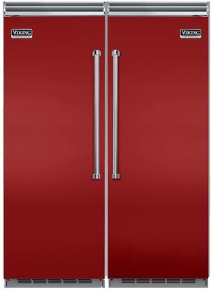 Viking 734345 5 Side-By-Side Refrigerators