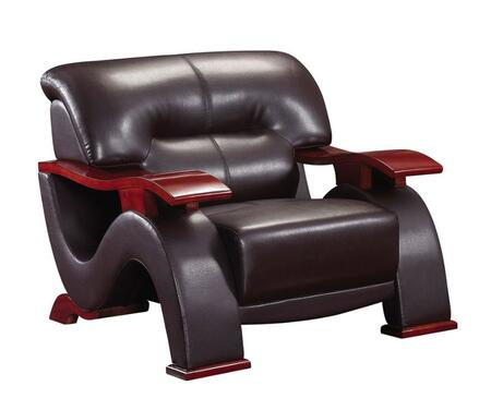 Global Furniture USA 2033LVBRCH Leather Match with Wood Frame