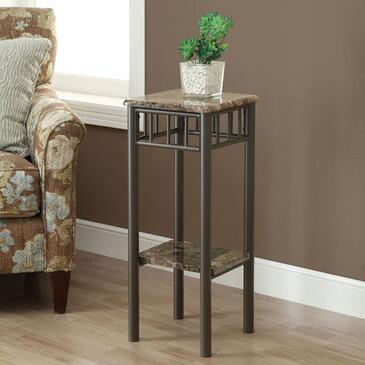 Monarch I 30X4 Plant Stand, with Marble-Look Top, Metal Base, and Contemporary Design