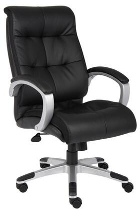 """Boss B8771 42"""" Double Plush High Back Executive Chair with Seat Height Adjustment, Adjustable Tilt Tension Control and Hooded Double Wheel Casters"""