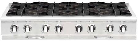 """Capital CGRT488L 48"""" Culinarian Series Gas Open Burner Style Cooktop, in Stainless Steel"""