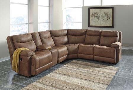 Signature Design by Ashley 79400 Valto Sectional Sofa in Saddle Color