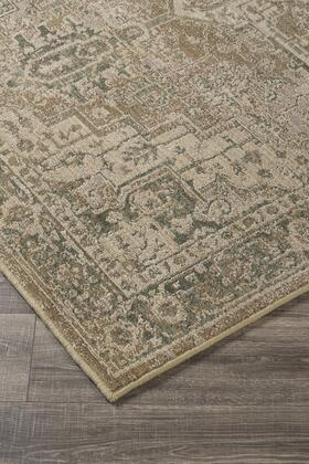 """Milo Italia Laylah RG424732TM """" x """" Size Rug with Persian Design, Machine-Woven, 7mm Pile Height, Spot Clean Only and Polypropylene Material in Beige Color"""