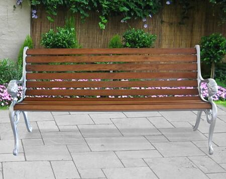 Vifah V13581 Picnic Metal Frame Armed Patio Benches