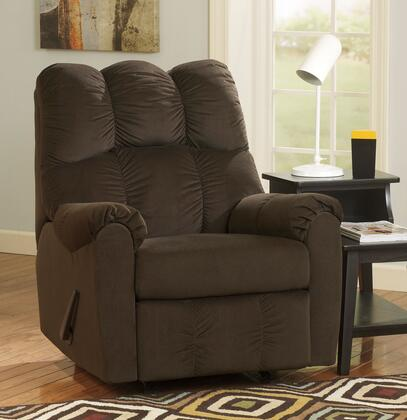 Signature Design by Ashley Raulo 1750X25 Rocker Recliner with Padded Arms, Deeply Divided Back and Metal Construction in