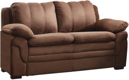 """Glory Furniture 60"""" Loveseat with Removable Backs, Wood Frame and Microfiber Upholstery in"""