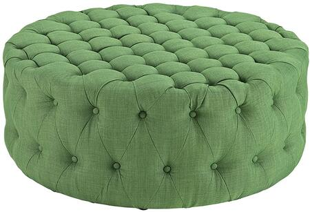 Modway EEI2225GRN Amour Series Fabric Wood Frame Ottoman
