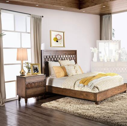 Furniture of America Kallisto 2 Piece California King Size Bedroom Set