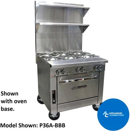 """Southbend P36N Platinum Series 36"""" Sectional Open-Top Range with Stainless Steel Construction, Up to 35000 BTUs (NG/LP)"""