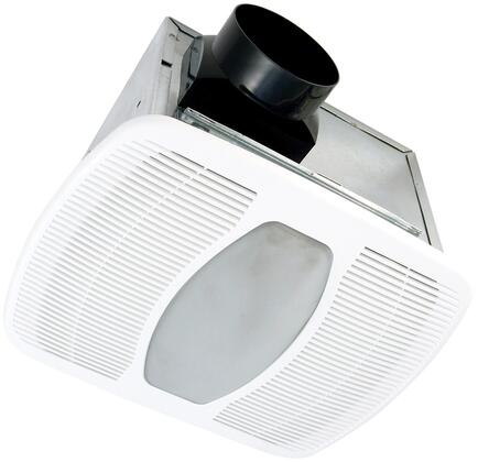Air King AKFx Exhaust Fan with x CFM, Lighting, 23 Gauge Galvanized Steel Housing, and Polymeric Grill, in White