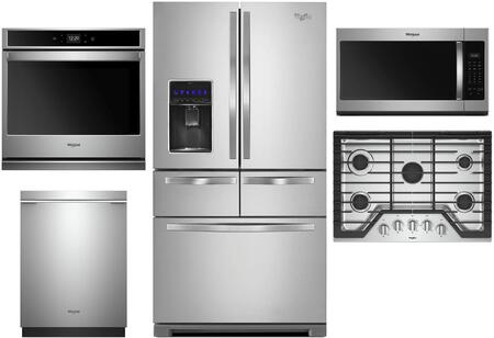 Whirlpool 996360 5 Piece Stainless Steel Kitchen Appliances Package