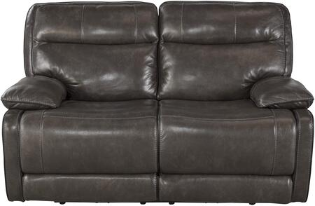 Milo Italia MI417022META Vanessa Series Leather Reclining with Metal Frame Loveseat
