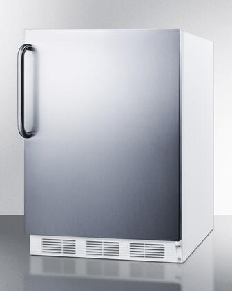 """Summit CT661SSTBADA 24""""  Compact Refrigerator with 5.1 cu. ft. Capacity in Stainless Steel"""