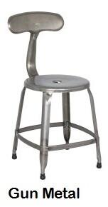 Chintaly 8036SCGUN 8036 Series Residential Not Upholstered Bar Stool