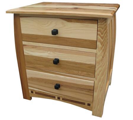 AAmerica ADANT5750 Adamstown Series Rectangular Wood Night Stand