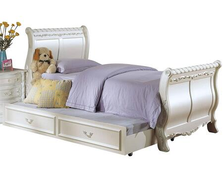 Acme Furniture 01010T Pearl Series  Twin Size Sleigh Bed
