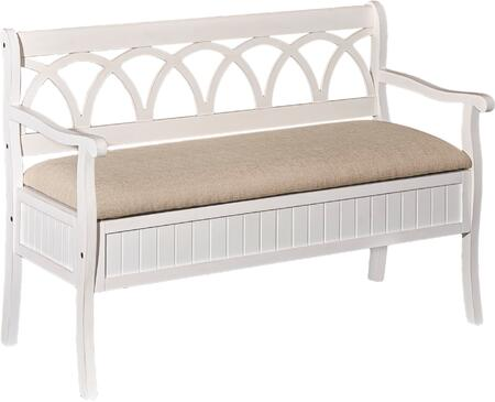 Powell D1017A16W Elliana Series Accent  MDF Fabric Bench