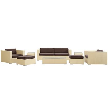 Modway EEI610TANBRNSET Modern Rectangular Shape Patio Sets