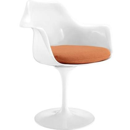 EdgeMod EM152ORA Daisy Series Modern Fabric Plastic Frame Dining Room Chair