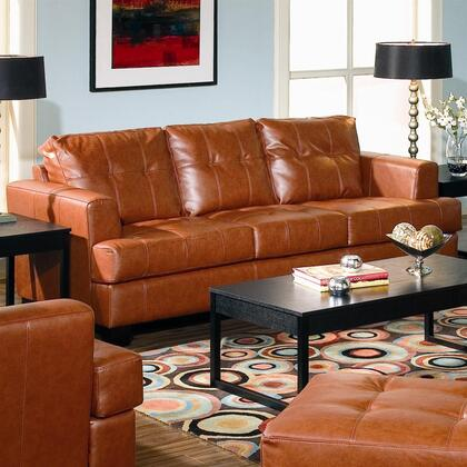 Coaster 501591 Samuel Series Stationary Bonded Leather Sofa