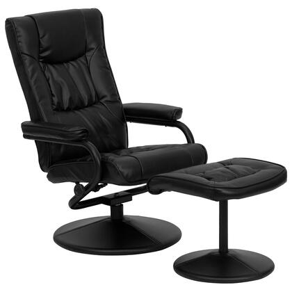 Flash Furniture BT-7862-XX-GG Contemporary Leather Recliner and Ottoman with Leather Wrapped Base, Knob Adjusting Recliner and Swivel Seat