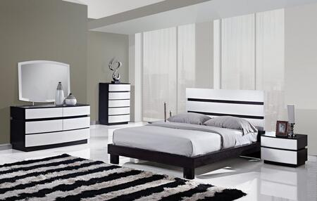 Global Furniture USA CATALINAKB4GRP Catalina Series 4 Piece Bedroom Set