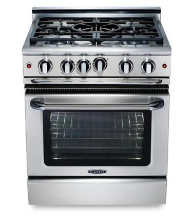 "Capital GCR304L 30"" Precision Series Liquid Propane Freestanding Range with Sealed Burner Cooktop, 4.1 cu. ft. Primary Oven Capacity, in Stainless Steel"