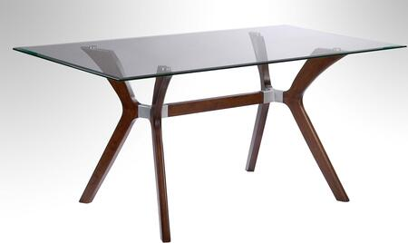 Chintaly LUISA-DT Luisa Dining Table With Glass Top