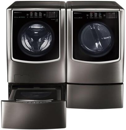 LG Signature 802321 Black Stainless Steel Washer and Dryer C