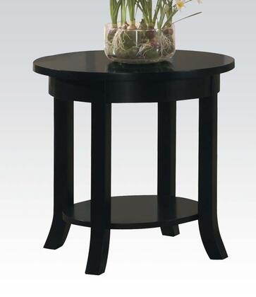 Acme Furniture 08001C Gardena Series Contemporary Wood Round End Table