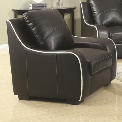 Coaster 504223 Myles Series Bonded Leather with Wood Frame in Black