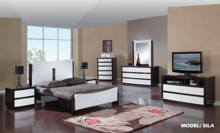 Global Furniture USA SilaQueenBedGroupWH Sila Queen Bedroom