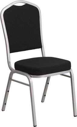 "Flash Furniture Hercules FD-C01-S 38"" Banquet Chair with Crown Back Design, Fabric Upholstery, Seamless Back Panel and Double Support Braces in"