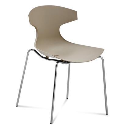 Domitalia ECHOS00FAEPSA Echo Series Contemporary Metal Frame Dining Room Chair
