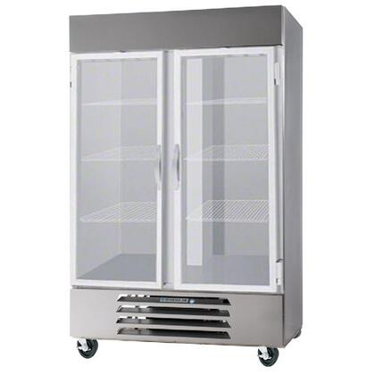 """Beverage-Air HBR44-1 47"""" Horizon Series Two Section [Solid Door] Reach-In Refrigerator, 44 cu.ft. Capacity, Stainless Steel Exterior and Interior, with Bottom Mounted Compressor"""