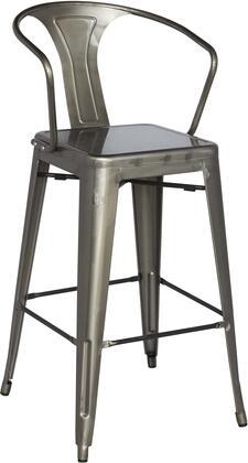 Chintaly 8020-BS Stackable Indoor & Outdoor Galvanized Steel Bar Stool in