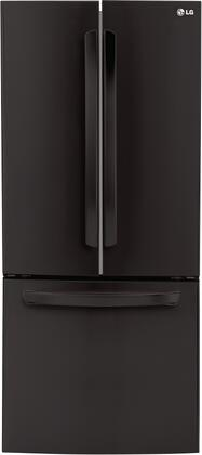 "LG LFC22770 30"" Energy Star Rated French Door Refrigerator with 22 cu. ft. Capacity, Factory Installed Ice Maker, Smart Cooling System and 2 Humidity Controlled Crispers in"