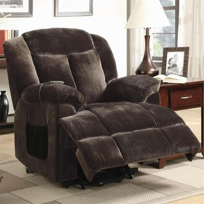 Coaster 600173 Recliners Series Casual Velvet Metal Frame  Recliners