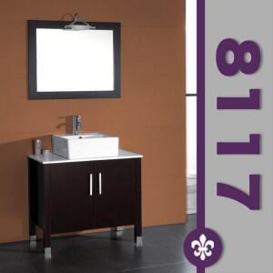 """Cambridge 8117X 36"""" Espresso Bathroom Vanity Set with a Faucet"""