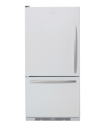 Fisher Paykel RF175WCLW1 Active Smart Series Counter Depth Bottom Freezer Refrigerator with 17.5 cu. ft. Total Capacity 5.1 cu. ft. Freezer Capacity 2 Glass Shelves