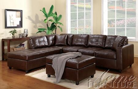 Acme Furniture 50098 Milano Series Contemporary Bonded Leather Ottoman