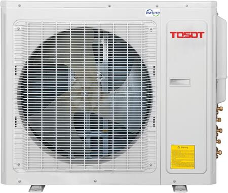 Tosot TMH4O Mini Split Outdoor Condenser with Intelligent Defrost, Inner Grove Copper, and Comprehensive Protection, in White