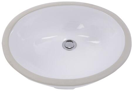 Nantucket GB1XX1XW Great Point Collection Glazed Bottom Vitreous China Ceramic Oval Undermount Bathroom Sink in White