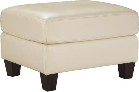 """Milo Italia Regina MI-5733ATMP 35"""" Ottoman with Leather Match Upholstery, Stitching Details and Tapered Legs in"""