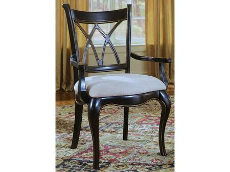"Hooker Furniture Preston Ridge Series 864-75-4 40"" Traditional-Style Dining Room X Back Chair with Cushion, Cabriole Legs and Fabric Upholstery in Brown"