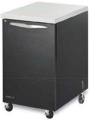 "Kool-It KBB241Sx 24"" Back Bars with Capacity of 7 cu.ft, 1 Door, 2 Shelves, 1/5 HP, in Black"