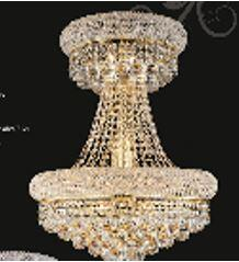 "J & P Crystal Lighting Bangle Collection SP1800D20 20"" Wide Chandelier in X Finish"