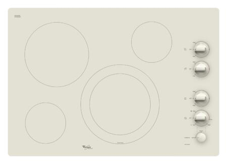 """Whirlpool G7CE3034XC 30"""" Gold Series Electric Cooktop, in Pure Biscuit"""