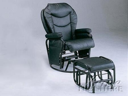 Acme Furniture 08154 Alberto Series Transitional Leather Metal Frame  Recliners