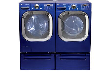 Lg Wm2801hla 4 5 Cu Ft Front Load Washer In Blue